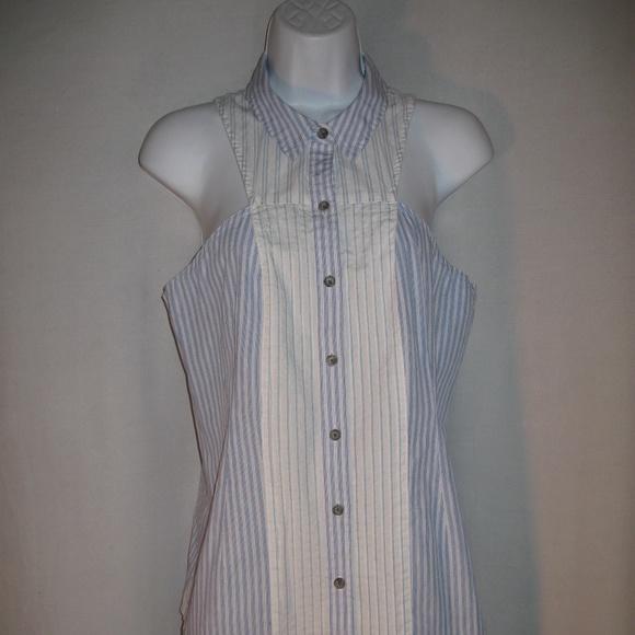 8c35171d6a05f1 Maeve Tops   Anthropologie Tuxedo Style Sleeveless Blouse   Poshmark